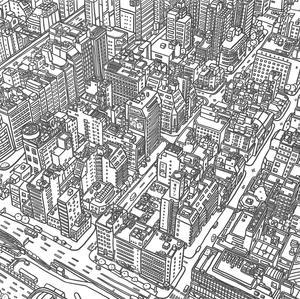 Japan street illustration
