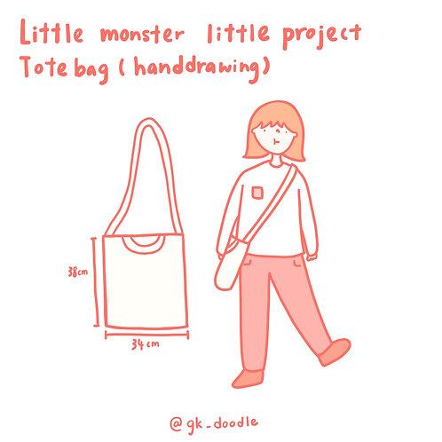 little monster little project - tote bag