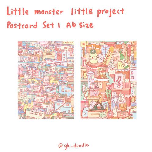 little monster little project - postcard