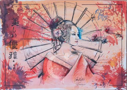 Geisha By Olivia Maria Chevallier