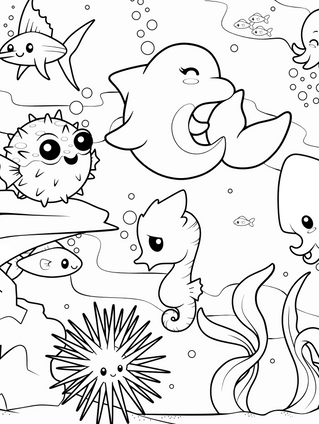 Under the Seas Coloring Page