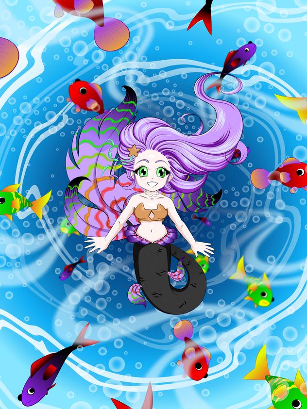Purple Fin Swirl