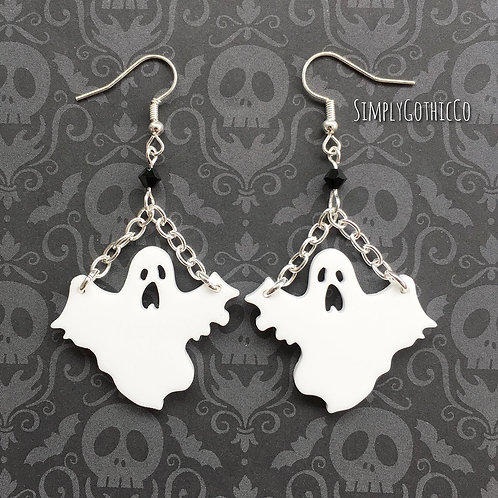 Gothic Haunting Ghost Earrings