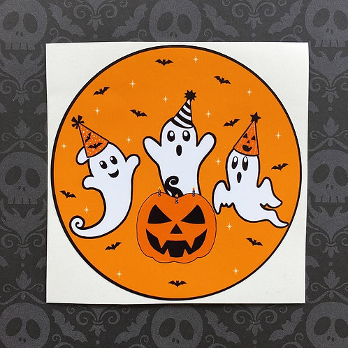 Gothic Halloween Ghost Party Sticker