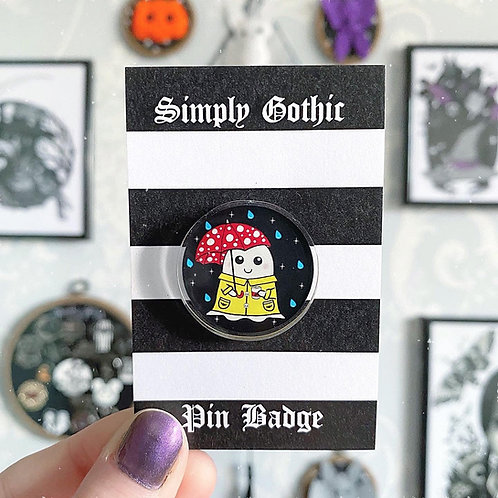 Gothic Cosy Spring Ghost Pin