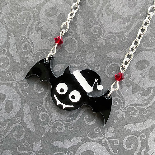 Gothic Festive Bat Necklace