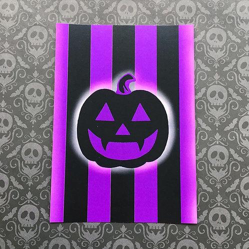 Gothic Pumpkin Print (Purple)