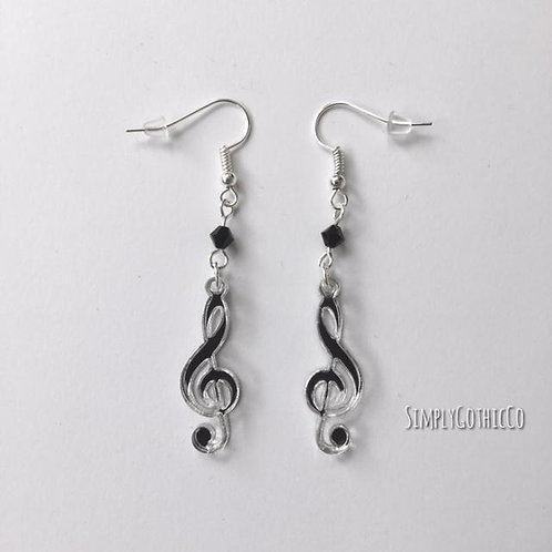 Limited Edition - Mirror Treble Clef Earrings
