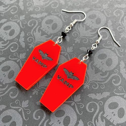 Gothic 'Vamp' Coffin Earrings