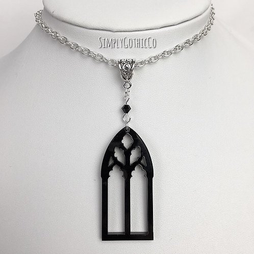 Gothic Cathedral Window Necklace