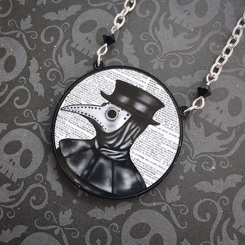 Gothic Plague Doctor Necklace