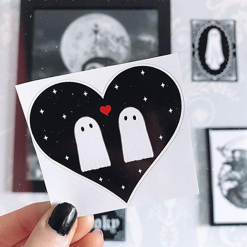 Gothic Ghost Love Sticker