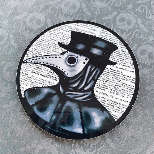 Gothic Plague Doctor Coaster