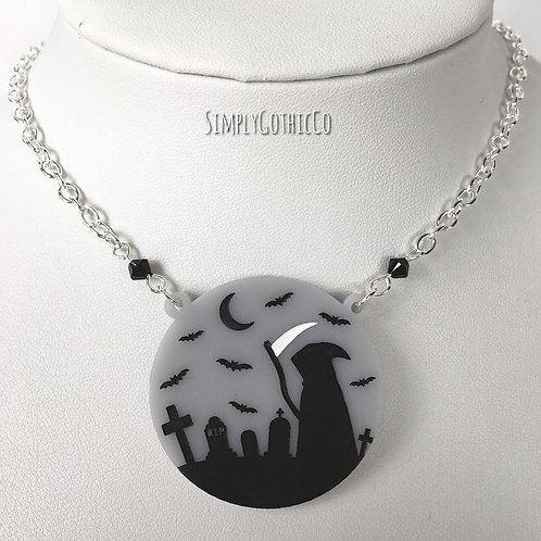 Gothic Grim Graveyard Necklace