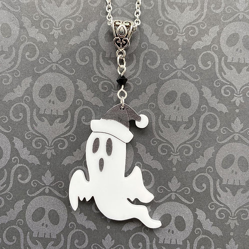 Gothic Spooky Festive Ghost Necklace