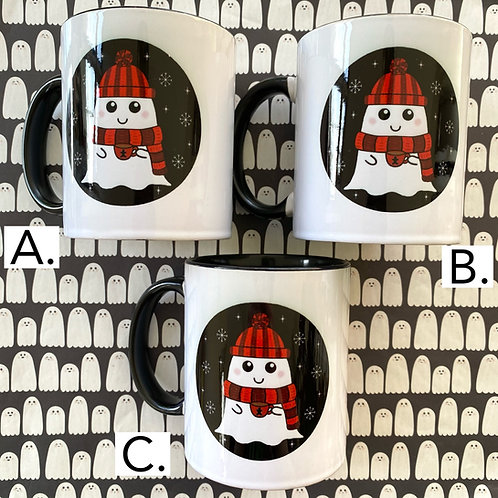 SECONDS £6- Gothic Cosy Winter Ghost Mug