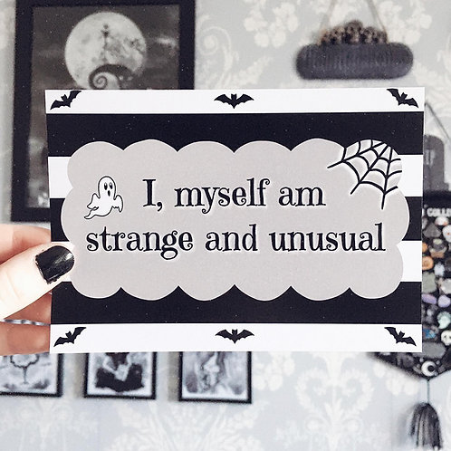 'Strange and Unusual' Art Print