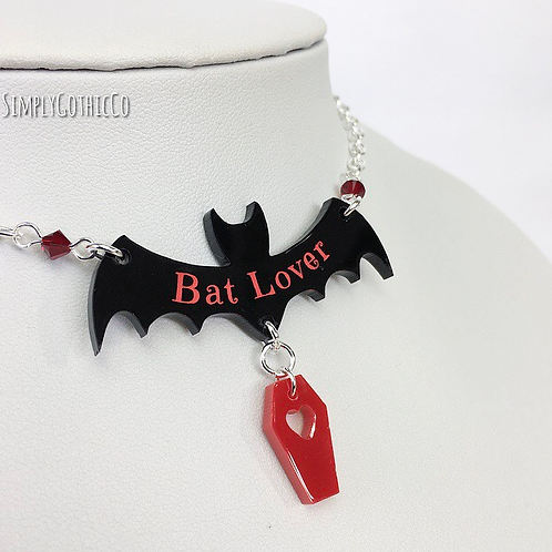 Gothic 'Bat Lover' Necklace