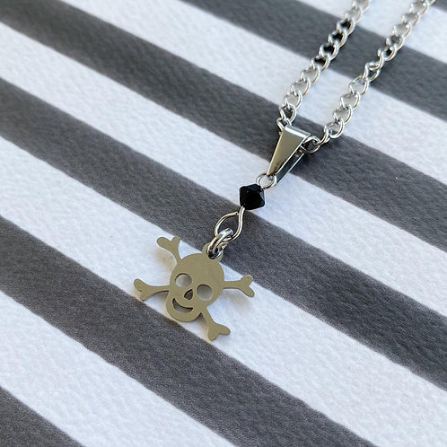 Gothic Skull and Crossbones Necklace
