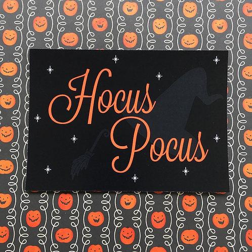 Gothic 'Hocus Pocus' Art Print (Orange)
