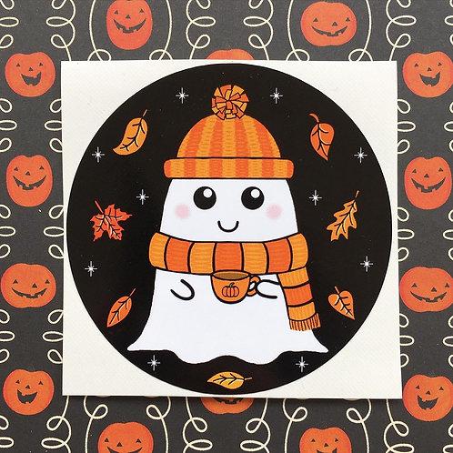 Gothic Cosy Ghost Sticker
