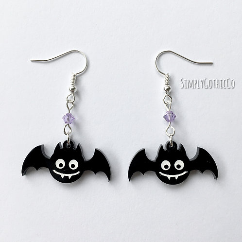 Gothic Cute Bat Earrings
