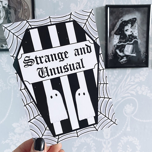 Gothic 'Strange and Unusual' Coffin Art Print