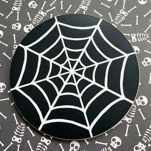 Gothic Spiderweb Coaster