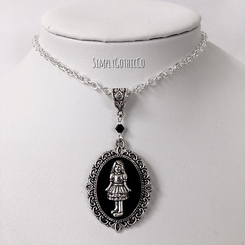 Gothic Alice Doll Victorian Cameo Necklace