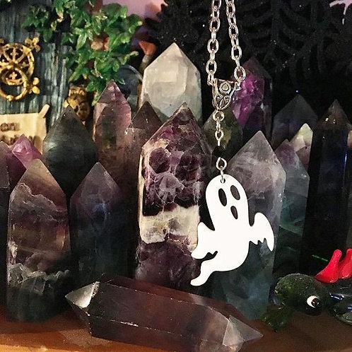 Gothic Spooky Spirit Ghost Necklace