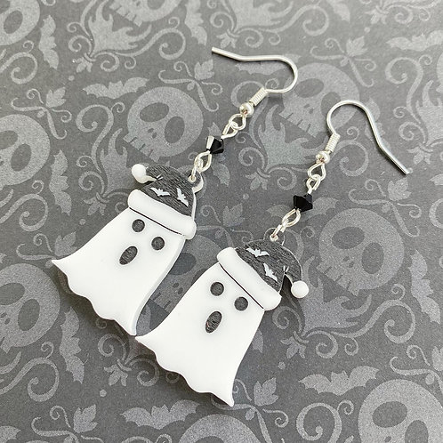 Gothic Singing Ghost Earrings- New