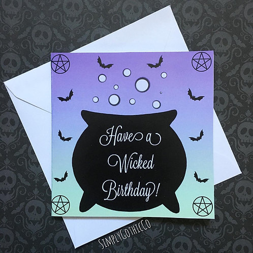 Wicked Witchy Birthday Card