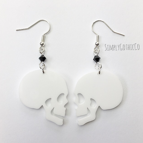Subscription Box Special - Gothic Side Skull Earrings