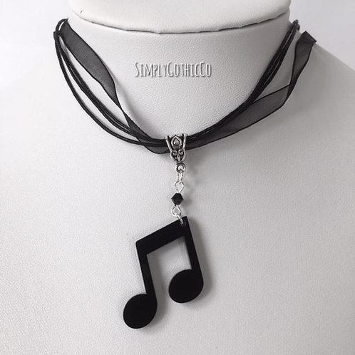 Limited Edition - Quaver Note Ribbon Necklace- LAST ONE!!