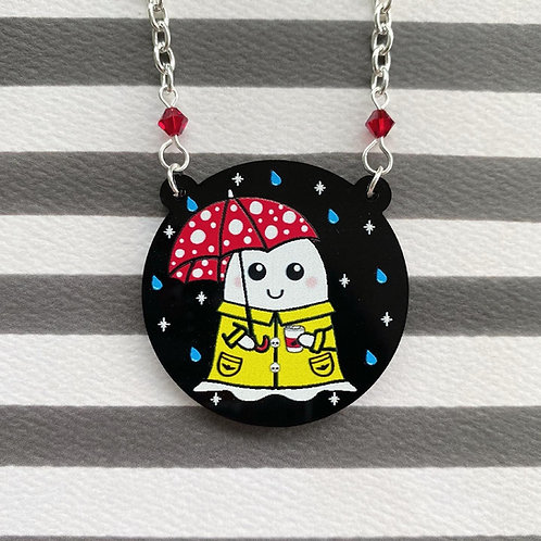 Gothic Cosy Spring Ghost Necklace