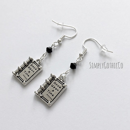 Gothic Fairytale Book Earrings - 2 LEFT!!