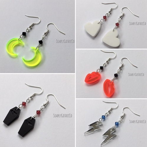SALE - Gothic Little Earrings - Choice of 3 pairs