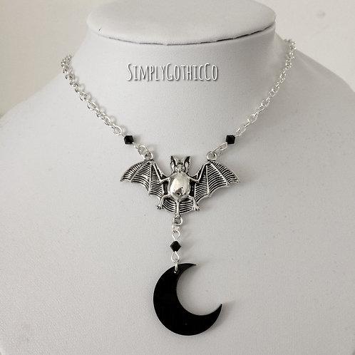Gothic 'After Dark' Bat Necklace