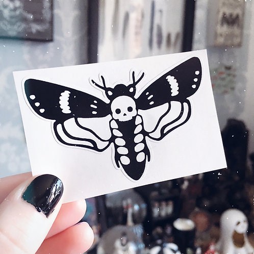 Death Head Moth Vinyl Sticker