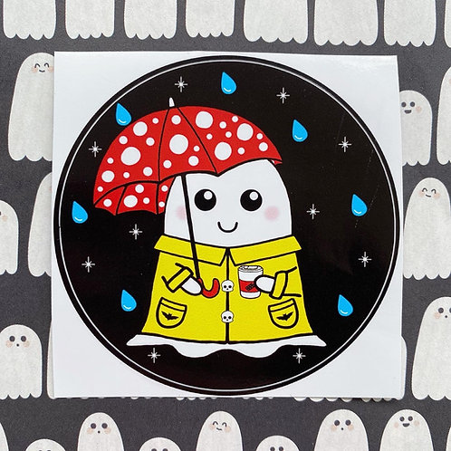 Gothic Cosy Spring Ghost Sticker