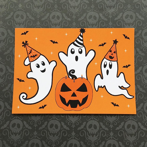 Gothic Halloween Ghost Party Print
