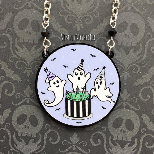 Gothic Ghost Party Necklace
