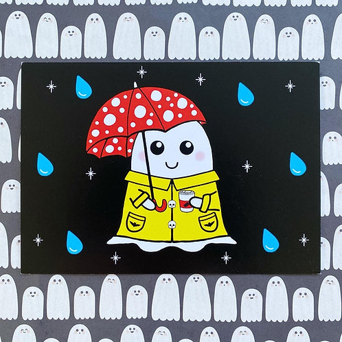 Gothic Cosy Spring Ghost Art Print