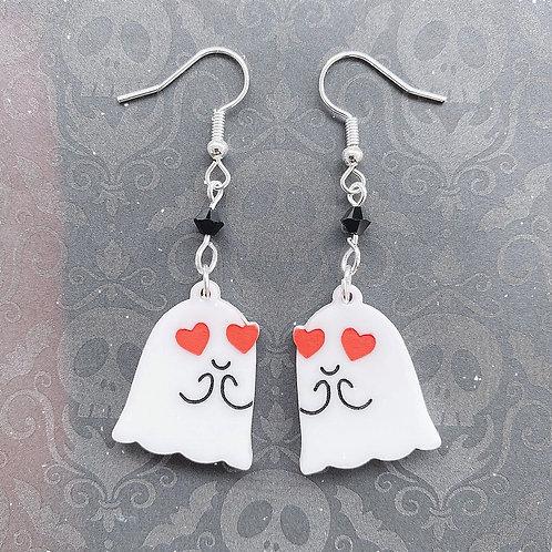 Gothic Ghost In Love Earrings