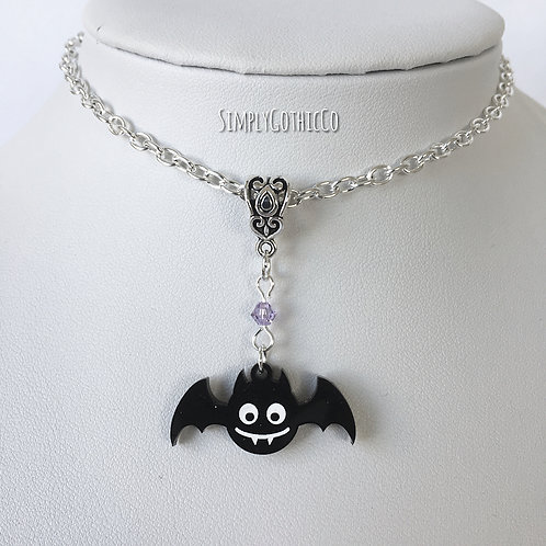 Gothic Cute Bat Necklace