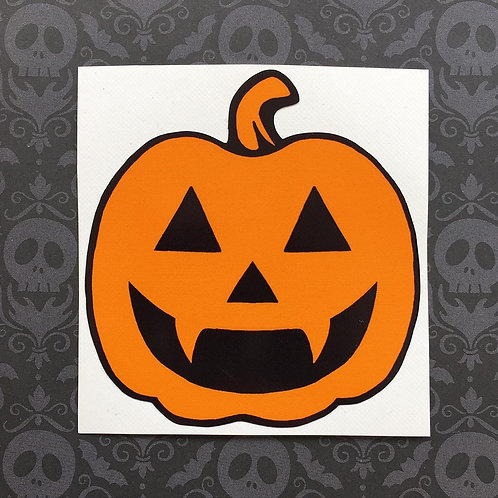 Gothic Orange Pumpkin Sticker