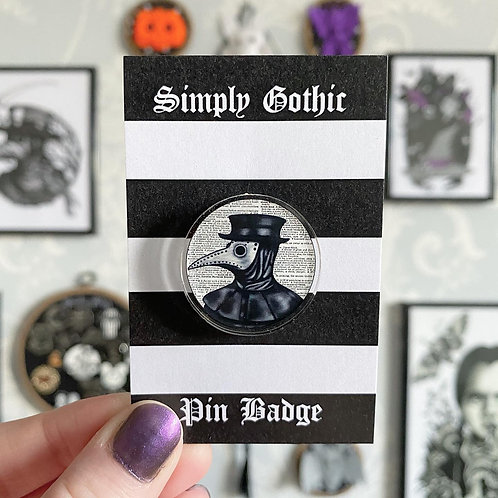 Gothic Plague Doctor Pin