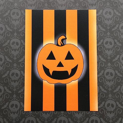 Gothic Pumpkin Print (Orange)