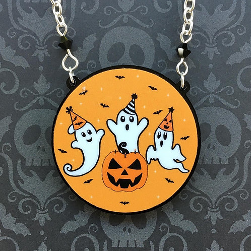 Gothic Halloween Ghost Party Necklace