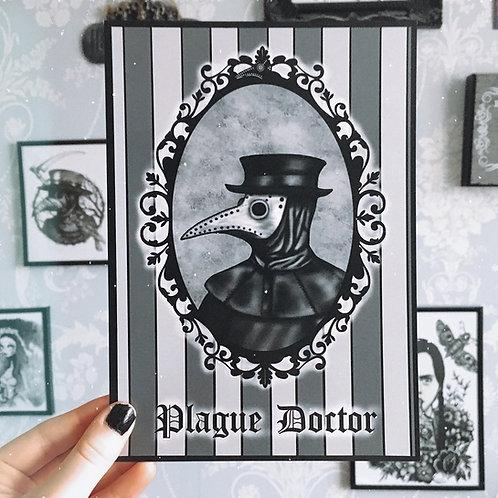 Gothic Plague Doctor Frame Print